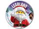 Gear No: pin229  Name: Pin, Legoland Santa 2 Piece Badge
