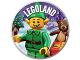 Gear No: pin230  Name: Pin, Legoland Elf 2 Piece Badge