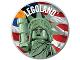 Gear No: pin233  Name: Pin, Legoland Lady Liberty 2 Piece Badge