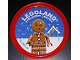Gear No: pin235  Name: Pin, Legoland Discovery Center Gingerbread Man 2 Piece Badge