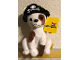 Gear No: plush08  Name: Pirate Dog Plush with Pirate Hat and Peg Leg