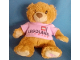 Gear No: plush19  Name: Teddy Bear Plush with Legoland Windsor Pink Shirt and Pink Brick on Foot