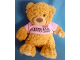 Gear No: plush20  Name: Teddy Bear Plush with Legoland Discovery Centre Pink Shirt and Pink Brick on Paw