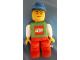Gear No: plush22  Name: Boy with Green Top with LEGO Logo and White Sleeves, Red Legs, Blue Cap Figure Plush