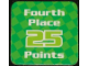 Gear No: racegame4thpl2  Name: Racers Game 4th Place Card with White 'Fourth Place 25 Points' Pattern
