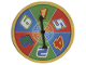 Gear No: racegamespinner  Name: Racers Super Speedway Board Game, Game Piece Spinner