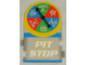 Gear No: racegametracks6  Name: Racers Game Track Piece Special Pit Stop with Words