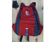 Gear No: satchel8  Name: Backpack Red and Dark Gray with Lego play on Logo