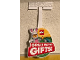 Gear No: shopstop24  Name: Display Sign, Wobbler / Shopper Stopper, Easter Bunny - Great Easter Gifts!