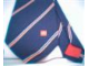 Gear No: tie01  Name: Tie, Stripes on Blue Background