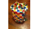 Gear No: tote05  Name: Tote Bag, Lego Logo Pattern, Checkered with Green Drawstring