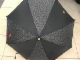 Gear No: umbrella02  Name: Umbrella, Black with 2 x 4 Brick Pattern (One Red Brick) and Lego Logo