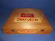 Gear No: wood14  Name: Wooden Storage Box Large Square (Double Latch) Retailer with LEGO Logo and Service Pattern