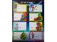 Gear No: wor4961  Name: Gift Tag Stickers, Christmas, Sheet of 8 (wor 4961)