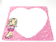 Gear No: Clikits306  Name: Letter Paper, Clikits Pink Heart Outline, Heart Character Pattern