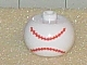 Gear No: bead003pb008a  Name: Bead, Globular with Ball Pattern, Baseball Stitching Horizontal