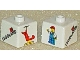 Gear No: bead004pb026  Name: Bead, Square with Legoland with US Flag, Minifigure, and Helicopter Pattern