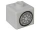 Gear No: bead004pb084  Name: Bead, Square with Bionicle Kopaka Shield Pattern (P1702)