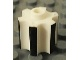 Gear No: bead005pb001  Name: Bead, Technic Gear Style with Black Edges Pattern