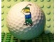 Gear No: golfball  Name: Golf Ball with Golfer Minifigure and 'Legoland' Decoration