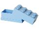 Gear No: 40121736  Name: Lunch Box, Mini (110ml), 2 x 4 Brick Shape, Bright Light Blue