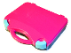 Gear No: 759528c05  Name: Storage Case with Rounded Corners and Magenta Lid, Medium Azure Latches