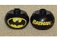 Gear No: bead003pb019  Name: Bead, Globular with 'BATMAN' and Batman Logo Pattern