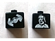 Gear No: bead004pb003  Name: Bead, Square with SW Darth Vader and TIE Fighter Pattern