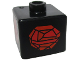 Gear No: bead004pb083  Name: Bead, Square with Red Rock Pattern
