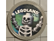 Gear No: pin213  Name: Pin, Legoland Skeleton 2 Piece Badge