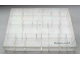 Gear No: MxBox18  Name: Modulex Storage Box Clear with Lid, 18 Compartments (Empty)