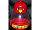 Gear No: pri066  Name: Primo Storage Bird with Red Bottom and Red Top with Eyes and Yellow Beak Pattern