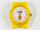 Gear No: bb1172c01  Name: Watch, Case Analog, Clikits - LEGO Logo, Silver Hour and Minute Hands, Orange Second Hand with Flower