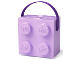 Gear No: 57119380230483  Name: Lunch Box, Brick 2 x 2 with Handle, Lavender