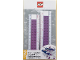 Gear No: 52397  Name: Ruler, Buildable Ruler - Medium Lavender Plates with Blue Baseplates