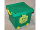 Gear No: 499283  Name: Square Stacking Basket with Lid and Wheels 21.5 qt (Minifigure Head Winking)