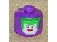 Gear No: bead006pb13  Name: Bead, Cylinder Large with Minifigure Head Pattern, The Joker