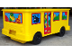 Gear No: 4112776pb01  Name: Duplo Storage Bin Large with Wheels with School Bus Stickers - Set 2581