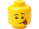 Gear No: 5006210  Name: Minifigure Head Storage Container Mini - Male Silly Sticking Tongue Out