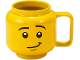 Gear No: 853910  Name: Food - Cup / Mug, Ceramic Minifigure Head