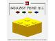 Gear No: Gstkcol001  Name: Sticker, 2 x 2 Brick, Collect Them All promotion