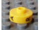 Gear No: bead001pb51  Name: Bead, Cylinder Short, Flat Edge with Black A R V Pattern