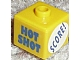 Gear No: bead004pb074  Name: Bead, Square with 'HOT SHOT', 'SCORE!' and '23' Pattern (P1519)