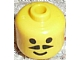 Gear No: bead006pb01  Name: Bead, Cylinder Large with Minifigure Head Pattern, Moustache Pointed with Standard Grin