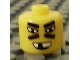 Gear No: bead006pb20  Name: Bead, Cylinder Large with Minifigure Head Pattern, Lines Under Slanted Eyes and Missing Tooth Grin