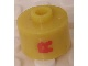 Gear No: bead029pb039  Name: Bead, Cylinder, Flat Edge with Red 'R' Pattern