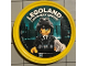 Gear No: pin208  Name: Pin, Legoland Discovery Center Agent Curtis Bolt 2 Piece Badge