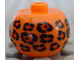 Gear No: bead003pb002  Name: Bead, Globular with Leopard Spots Pattern
