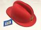 Gear No: 853566  Name: Headgear, Fire Helmet Red, Fire Logo Badge - Rigid Foam
