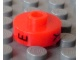 Gear No: bead001pb42  Name: Bead, Cylinder Short, Flat Edge with Black E Y N Pattern